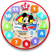 Mickey Mouse Wooden Shape Sorting Clock by Melissa & Doug