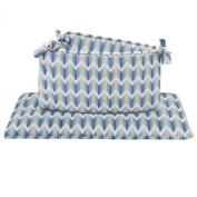 Micha Blue and Grey Zig Zag Crib Bumper by Petit Nest