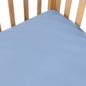 100% Cotton, Exceptionally Soft, Solid Crib Sheets in Blue