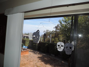 "Mazaa Decorative Halloween Skull Mobile - Handmade in the U.S.A. and great for ""Dia De Los Muertos""!"