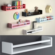 One White Baby Nursery Room Wall Shelf Wood 44cm Ships Fully Assembled