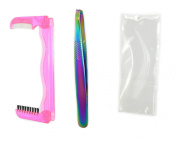 Itools Professional Fashion Slant Tip Tweezer with Eyebrow Styling Tool and Bro Stencil.