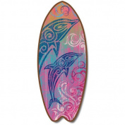 Tribal Dolphins - Large Surfboard