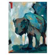 Watercolour 80cm x 100cm Buffalo Canvas Wall Art