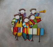 Musical Band 50cm x 60cm (Unstretched/Unframed), BeyondDream Oil Painting