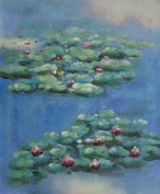 Summer Waterlily, Claude Monet Replica 60cm x 50cm (Unstretched/Unframed), BeyondDream Oil Painting