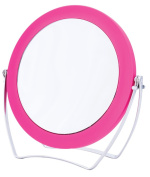 Danielle Enterprises Soft Touch 5X Magnification Easel Vanity Mirror, Pink