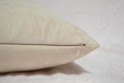 Creative Luxury Faux Suede Body Pillow Cover with Hidden Zipper 20 By 54, Ivory