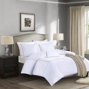 Madison Park Signature Down 1000-Thread Count Embroidered Cotton Comforter Set Tan Full/Queen