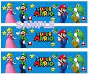 Mario Bros. Nintendo Deigner Print Edible Cake Border