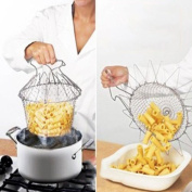 Generic Foldable Steam Rinse Strain Fry Chef Basket Strainer Net Kitchen Cooking Tool