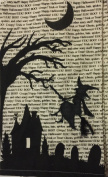 Set of 2 Cotton Embroidered Witch Broom Kitchen Towels