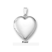 "Sterling Silver ""Sweetheart"" Valentines Day Heart Locket 1.9cm X 1.9cm"