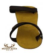 Muddy Buck Gear Chocolate hook and loop Adjustable Leather Arm Guard