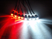 RC LED Lights for Truck, Car, Buggy - 4 white and 4 red 5mm LED lights
