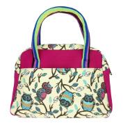 ZXKE Canvas Colourful Design Women Handbags Portable Lunch Bag Tote