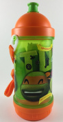 TMNT Teenage Mutant Ninja Turtles Dual Compartment Canteen with Strap, Sip and Snack