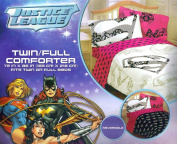 Justice League Twin/full Comforter in White Girls Design