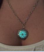 Steampunk FIRE necklace pendant charm locket Luminous Wicca Victorian goth choker