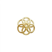 18K Gold Overlay Bead Cap CG-228-17MM