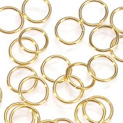 4mm Brass Jump Ring, Gold Plated, 40 Pc/Pkg