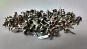Mini Round Scrapbooking Brads - Metallic Silver