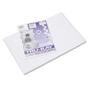Tru-Ray Construction Paper, 34kg., 12 x 18, White, 50 Sheets/Pack, Sold as 50 Sheet