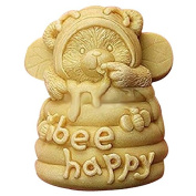 Lingmoldshop Bee Happy Craft Art Silicone Soap mould DIY Candy mould Craft Moulds Handmade Candle moulds