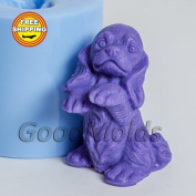 Small Dog 2 3d Soap Mould Silicone Moulds Mould for Soap Mould of a Puppy Mould of the Dog Mould Silicone Mould Animals Mould.