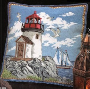 Coastal Lighthouse Pillow - Needlepoint Kit