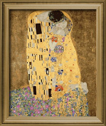 DIY PBN-paint by numbers famous painting The Kiss by Gustav Klimt 41cm by 50cm Frameless.