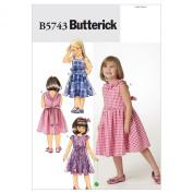 Butterick Patterns B5743 Children's/Girl's Dress, Size CDD