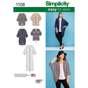 SIMPLICITY Patterns 1108 Misses' Kimono's in Different Styles, A