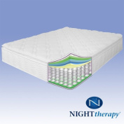 Night Therapy 25cm Pillow Top Pocketed Spring Mattress - Queen