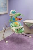 Fisher-Price - Rainforest Open-Top Cradle Swing