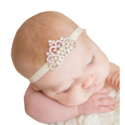 Susenstone®Crown Children's hair band Princess Baby Girl Crystal Pearl Crown Hairband