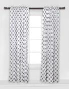 Bacati - Dots/pin Stripes Grey Large Dots Curtain Panel