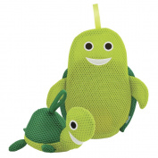 Rich Frog Wacky Wash Mitt and Bath Sponge Combo - Turtle