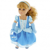 Cinderella Inspired Doll Clothes Outfit for 46cm Dolls By Dress Along Dolly