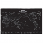 Unique and Beautiful Paper World Map Decorator National Geographic Reference Map
