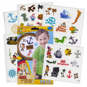 Jake and the Neverland Pirates Tattoos - 75 Assorted Temporary Tattoos