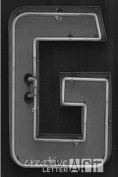 Creative Letter Art© - Letter G - 10cm by 15cm Black and White Neon Alphabet Photography Collection