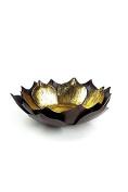Vagabond Vintage, Gold Leafed Metal Lotus Bowl - Large