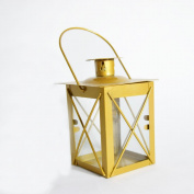 Fantado 11cm Mini Square Tealight Hurricane Candle Lantern - Gold by PaperLanternStore
