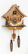 Quartz Cuckoo Clock Swiss house with music, incl. batteries TU 4204 QM