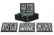 Box Sign Coasters - Wine