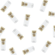 Mini Tiny Clear Glass Jars Bottles with Cork Stoppers for Arts & Crafts, Projects, Decoration, Party Favours - Size