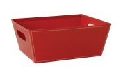 Wald Imports Embossed Paperboard Storage Tote, Red