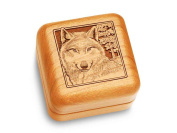 Music Box 6.4cm Square - Wolf Head - Fur Elise