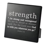 Lighthouse Christian Products Simple Faith Strength Plaque, 9.5cm x 9.5cm